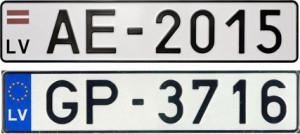 Латвийский номер