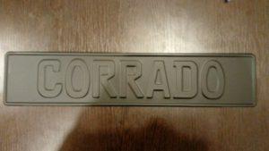 Corrado надпись на номере