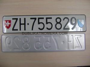 Дубликаты номерных знаков швейцарии