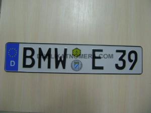 БМВ номерной знак фото