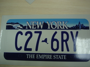 Номерной знак New York фото