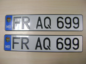 французский номерной знак авто