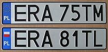 Автомобильный номер Польша
