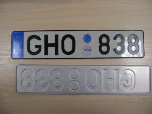 Литовский гос номер на автомобиль