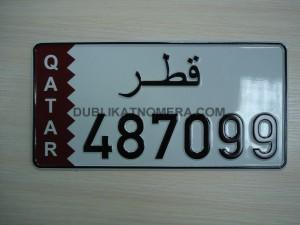 пример арабского номера на авто