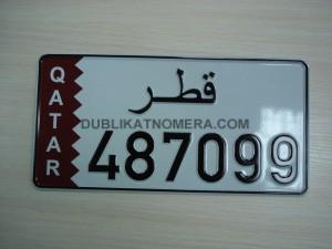 пример арабского номера на автомобиль