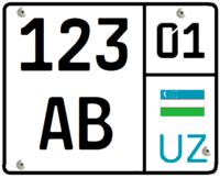Мотоциклетный номер Узбекистана