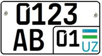 Дубликат номерного знака для прицепа - Узбекистан
