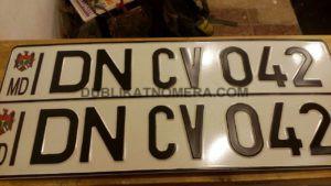 Номерной знак Молдавии на транспорт