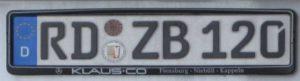 пример номера немецкого