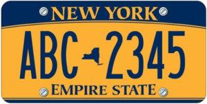Нью Йорк номера на авто