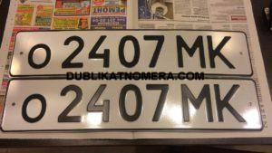 Пример копии номера на авто