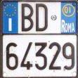 Дубликат мото номера Италия