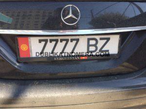 Киргизские номера на авто 7777