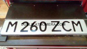 Надпись на номере авто