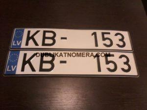 Латышский номерной знак на авто