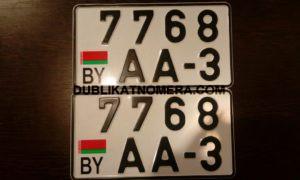 Белоруссия квадратный номер на тачку