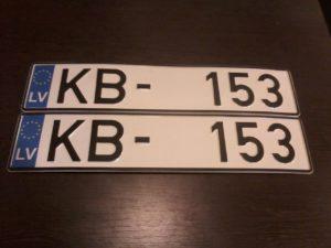 LV номер на машину